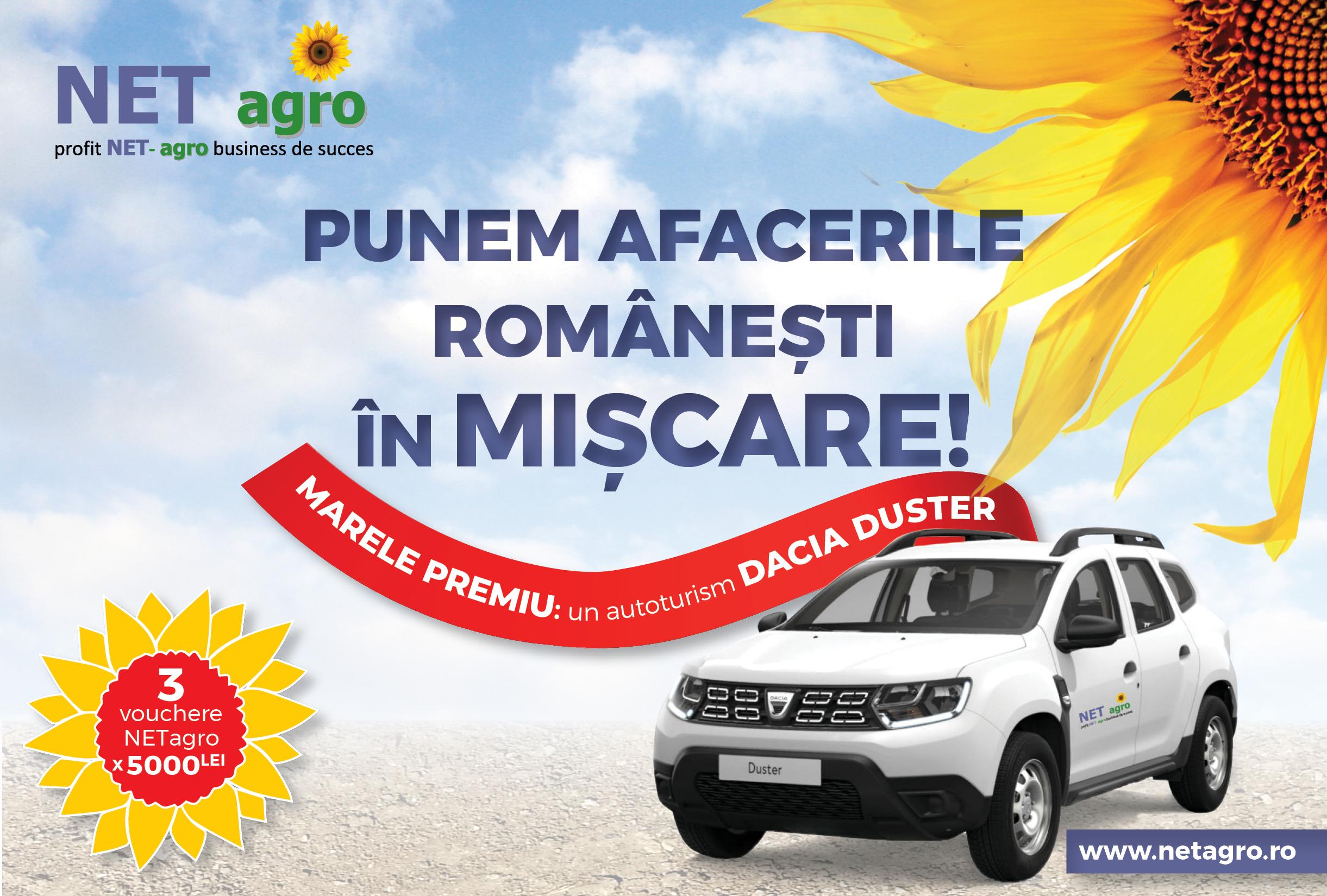 """Concursul NETagro """"Punem afacerile românești în mișcare!"""" a luat start"""